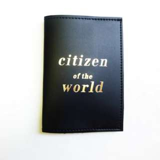 'Citizen of the world' passport cover/sleeve