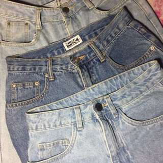 Mom jeans/shorts for sale!!!