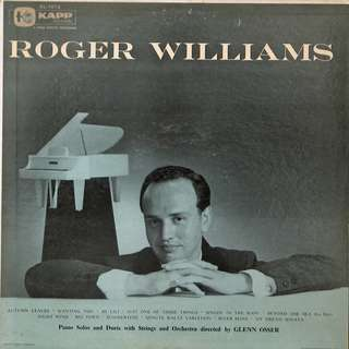 Roger Williams Vinyl LP, used, 12-inch original (mostly USA) pressing