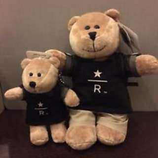 Highly limited - authentic starbucks bear from thailand reserve stores