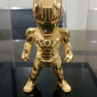 Gold plated iron man