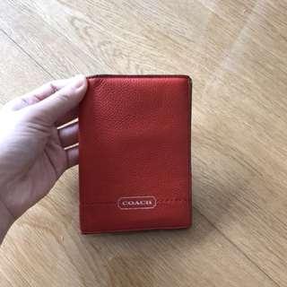 Coach 護照套 passport cover