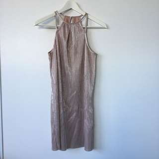 Ache metallic crepe dress