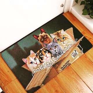Cat Design Floormat