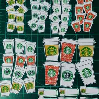 Planner Stickers : Starbucks Icons