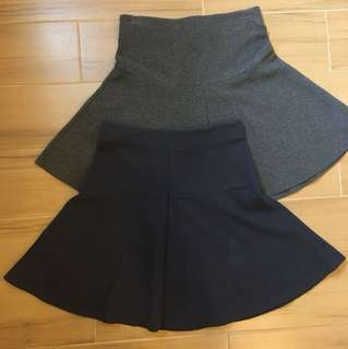 Uniqlo Flare Zip Skirts (bundle)