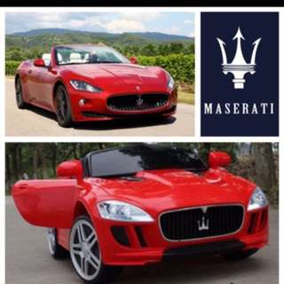 Maserati electric car with remote control
