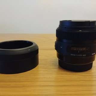 Sigma 30mm f/1.4 DC HSM Art lens for canon