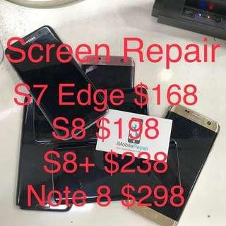 Screen Repair for S7 edge/ S8/ Note 8