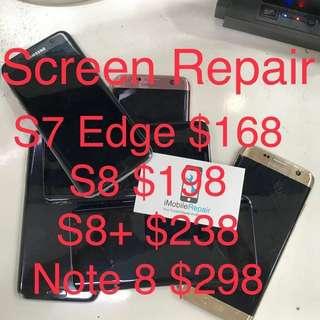 S7 Edge/s8/s8+/Note8 Screen Repair