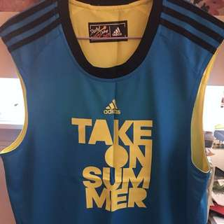 Adidas take on summer vest tank two sided