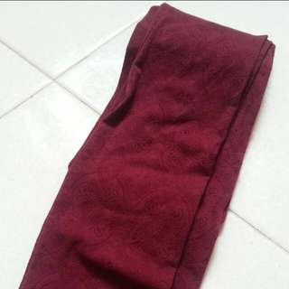 BN Thick Maroon Stockings