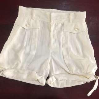 Ivory bubble shorts