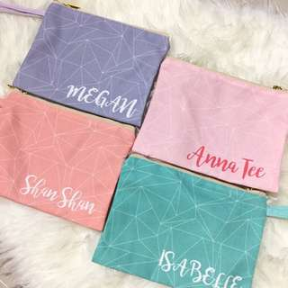 Personalised Canvas Pouch - geometric01