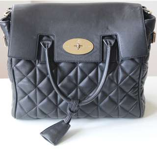 Mulberry Cara Delevingne Black Quilted Nappa Handbag