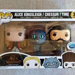 Disney limited edition Alice in Wonderland 3 pack pop vinyl