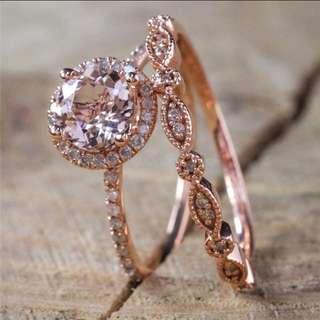 BN 18K Rose Gold Ring Set