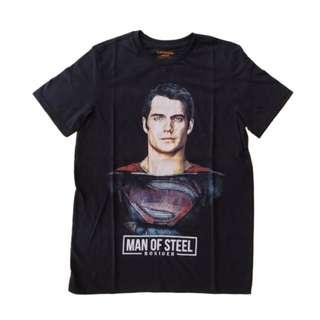 KAOS DISTRO - SUPERMAN MAN OF STEEL - HITAM - KATUN