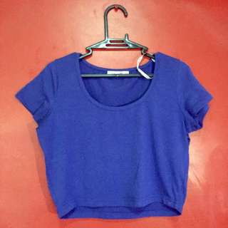 Cropped Top (Blue)