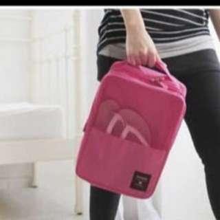 Candy pink shoebag