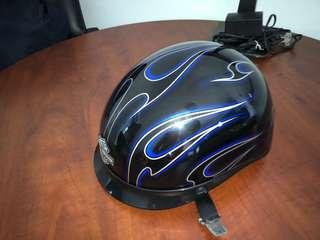 Cruiser helmet with visor