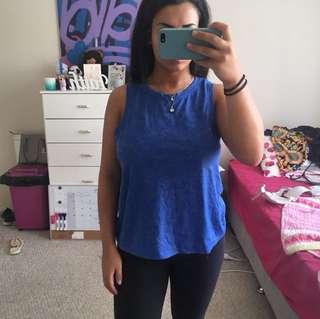 Blue tank shirt