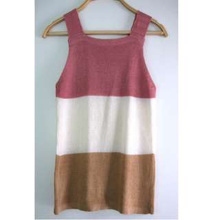 Singapore Pink Knit Sleeveless Top