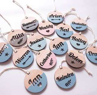 Custom Wooden Name Tag