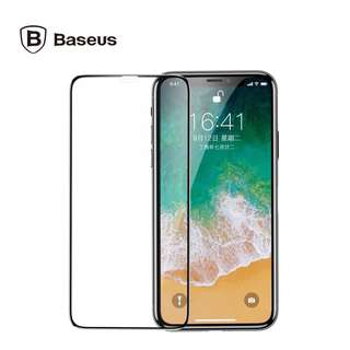 (FREE CASING) Baseus IPhone X Tempered Glass