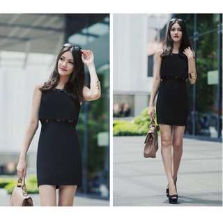 Fashmob Affinity Lace Dress in Black (S)