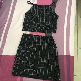 Haltertop & skirt