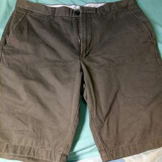Khaki walking shorts