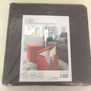 (Brand New) Brown Foldable Storage Ottoman