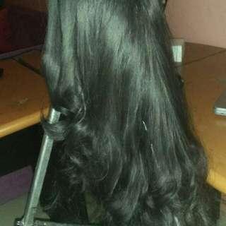 Wig Daily Warna Hitam preloved (FREE ONGKIR DAN FREE HAIRCLIP)