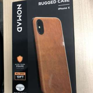 iPhone X leather casing NOMAD