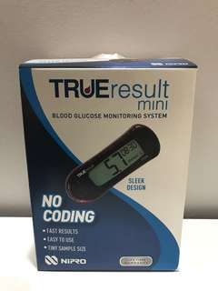 Blood glucose mini monitor - True Results