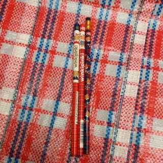 sanrio winkipinki 鉛筆3支 1991 1992 1995年