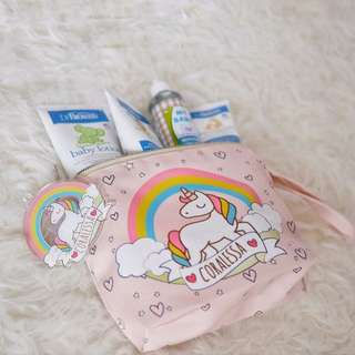 Personalised Canvas Pouch / Unicorn 02
