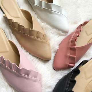 FRILLED MULES