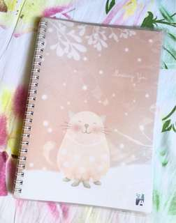 Snowing cat lined notebook