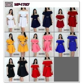 CODE: MF-1727 Off Shoulder Dress #11422