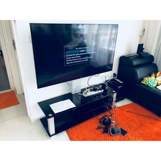 "TV Console stand for display up to 55"" no wheels Whatsapp 8778 1601"