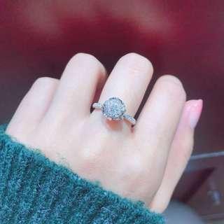 18K花苞鑽石戒指