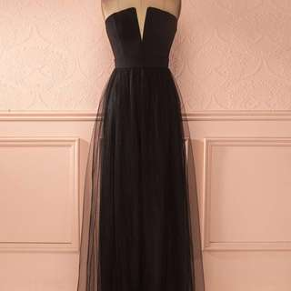 PRICE DROP - Black Tulle Gown
