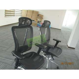 OFFICE TABLES & EXECUTIVE MESH CHAIRS--KHOMI