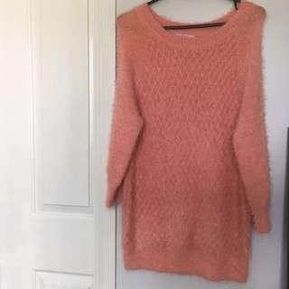 🌻Supre Size Medium Pink Fluffy Sweater