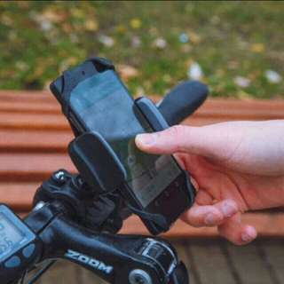 2017 🆕 Phone Cradle Mount For bicycle, Motorcycle, E Bike 🚴And Scooter! Many Uses Safe And Secure Mobile Grip!  ✔Made of ABS, Not Cheap Plastic, Same Material Used In, LEGO® Bricks💪  ✔Adjustable Clamp 2 Settings - Can Clamp On Thick Handlebars!