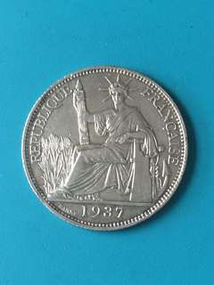 Indo-Chine ( Francaise) silver coin 20 cent Year 1937 sale 30%