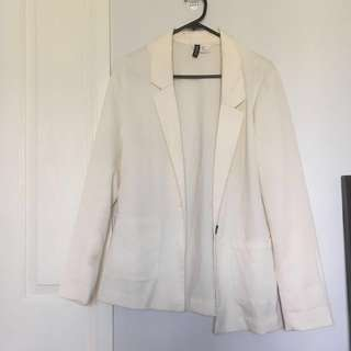 🌻H&M Divided Size US 8 (AU 12) Off White Blazer