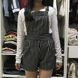 Stripes short jumpsuit
